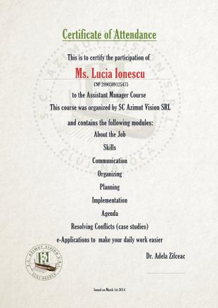 certificat curs online