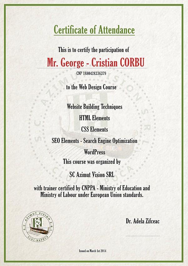 certificat curs javascript incepatori