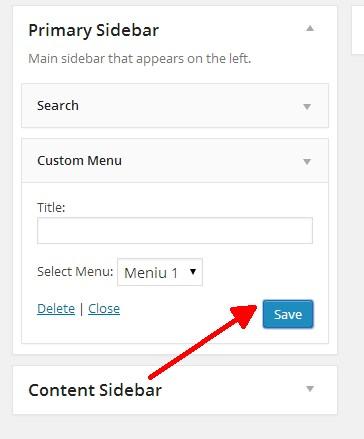 sidebar save