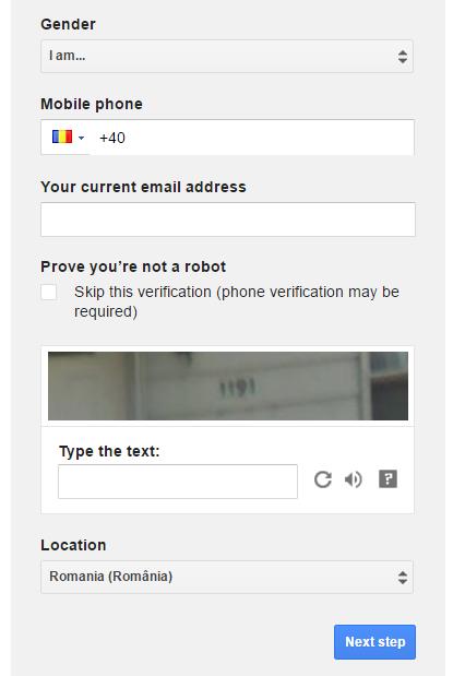 creare cont gmail