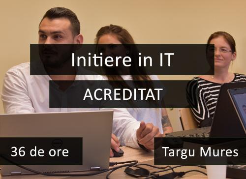 curs acreditat initiere in it targu mures