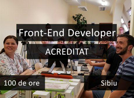 curs acreditat it sibiu front end developer