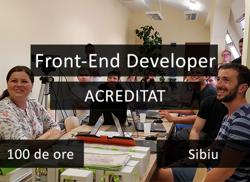 curs acreditat it sibiu front end developer