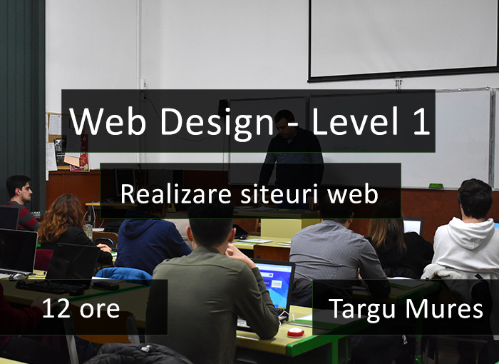 curs it web design realizare siteuri web targu mures